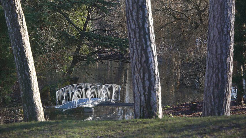 Tonkin Liu creates swing bridge to access Dinosaur Island in Crystal Palace Park