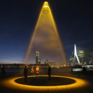 "Studio Roosegaarde's ultraviolet Urban Sun light ""cleans public spaces of coronavirus"""