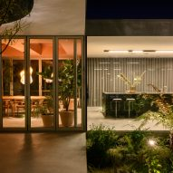 The glass-lined elevations of Villa Fifty-Fifty by Studioninedots