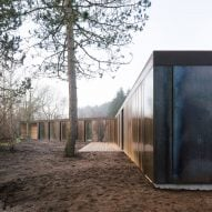 Villa Korup is a weathering steel-clad home on the Danish island of Fyn