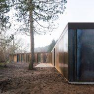 Villa Korup is a weathering steel-clad home on the Danish island of Fyn