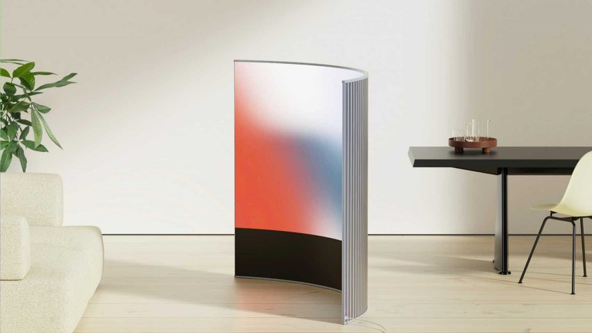 Virage by Camille Paillard curved flexible OLED screen room divider on the Dezeen and LG Display OLED Gg shortlist