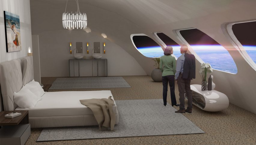 Bedroom at the space hotel