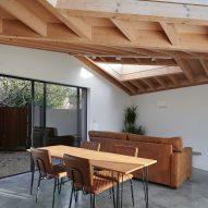 An open-plan living and dining room