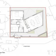 A ground floor plan of Jupp House by Phillips Tracey Architects