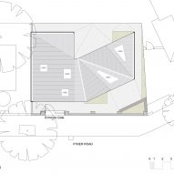 A roof plan of Jupp House by Phillips Tracey Architects