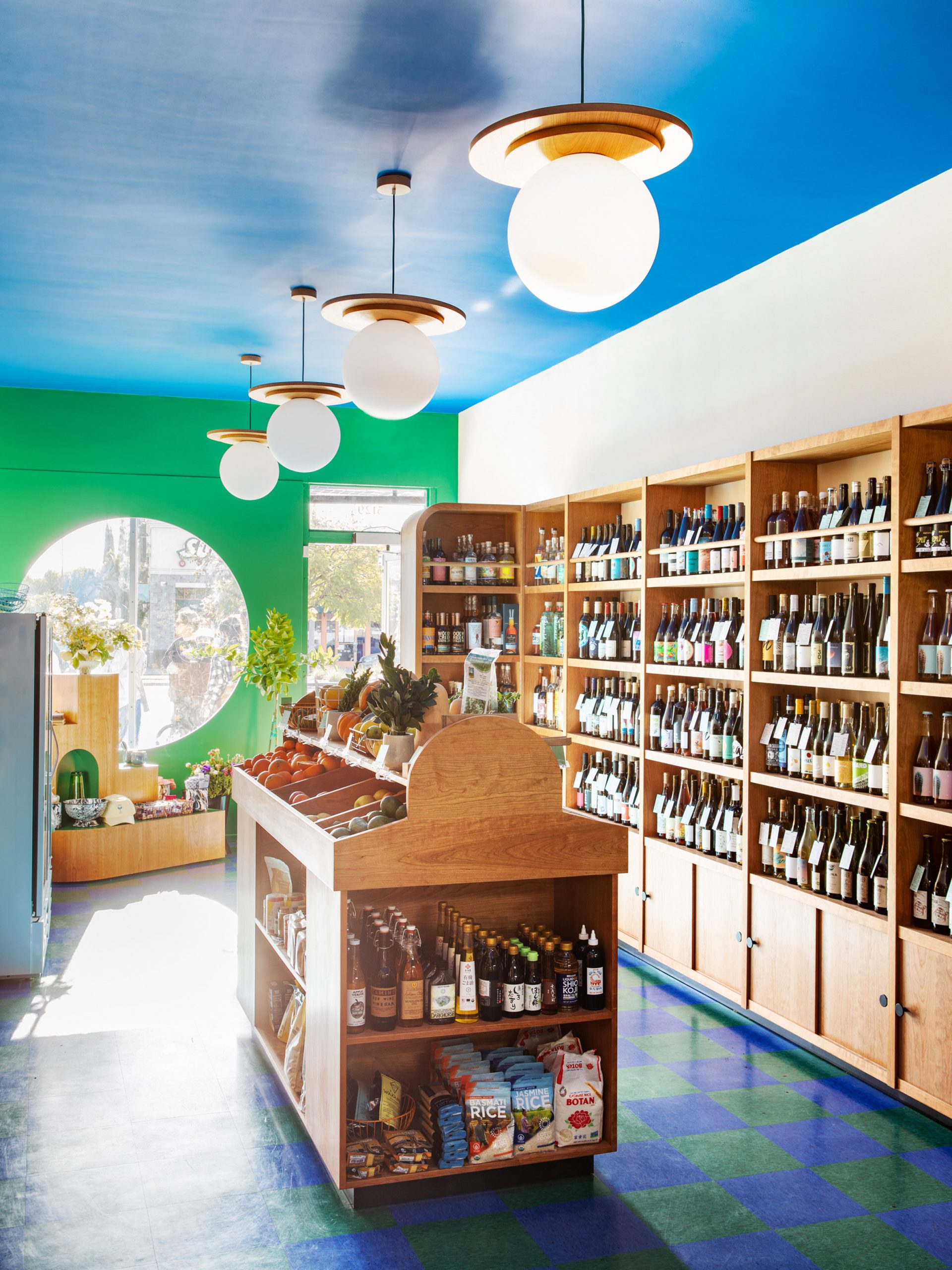 Interior view of Wine and Eggs with store counter