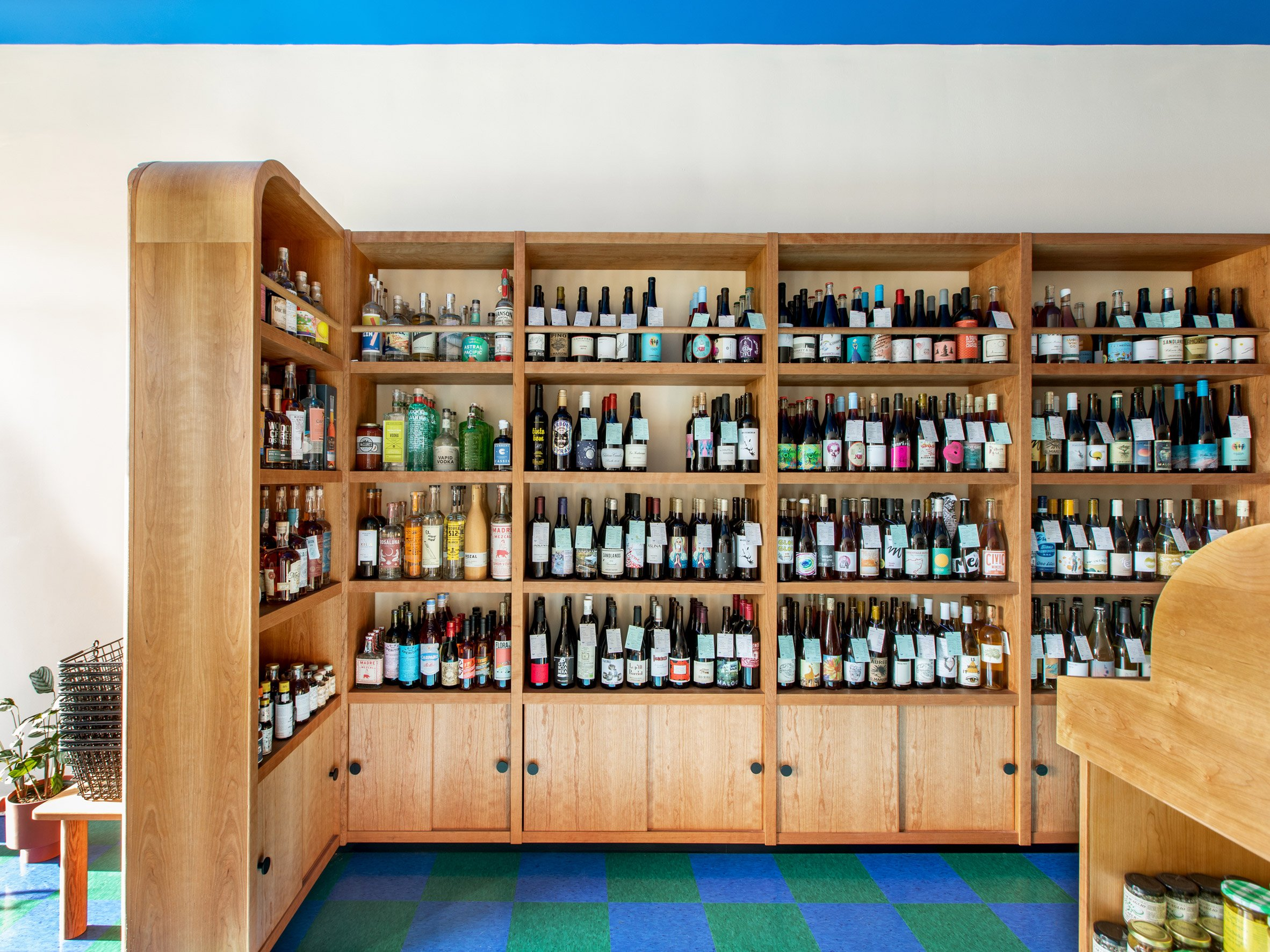 Shelves designed by Adi Goodrich in cherry wood