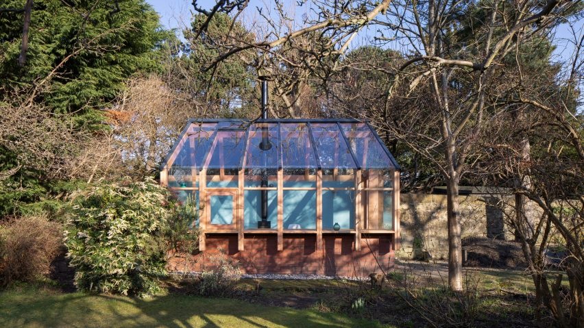 WT Architecture writer's studio glasshouse Edinburgh
