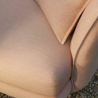 Detail of the Zaza outdoor sofa by Charles Wilson for King Living