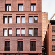 David Chipperfield designs red concrete and brick apartment block for New York