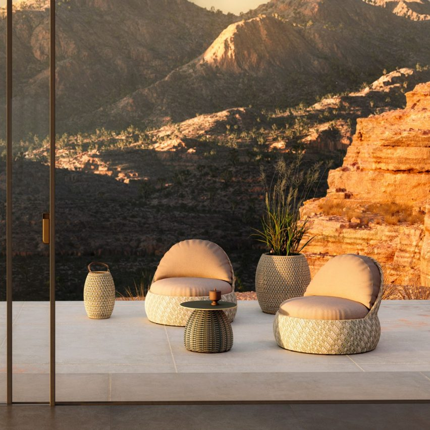 Dala outdoor seating by Stephen Burks for Dedon