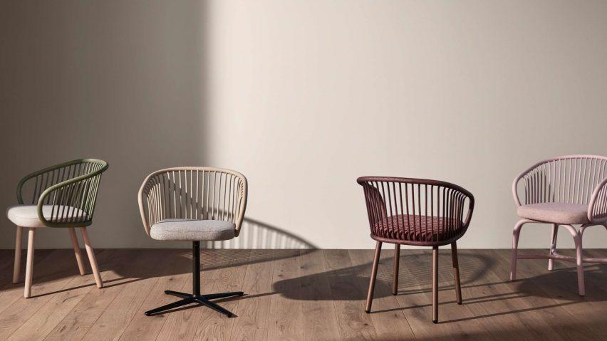 Huma armchair by Mario Ruiz for Expormim with a rattan backrest