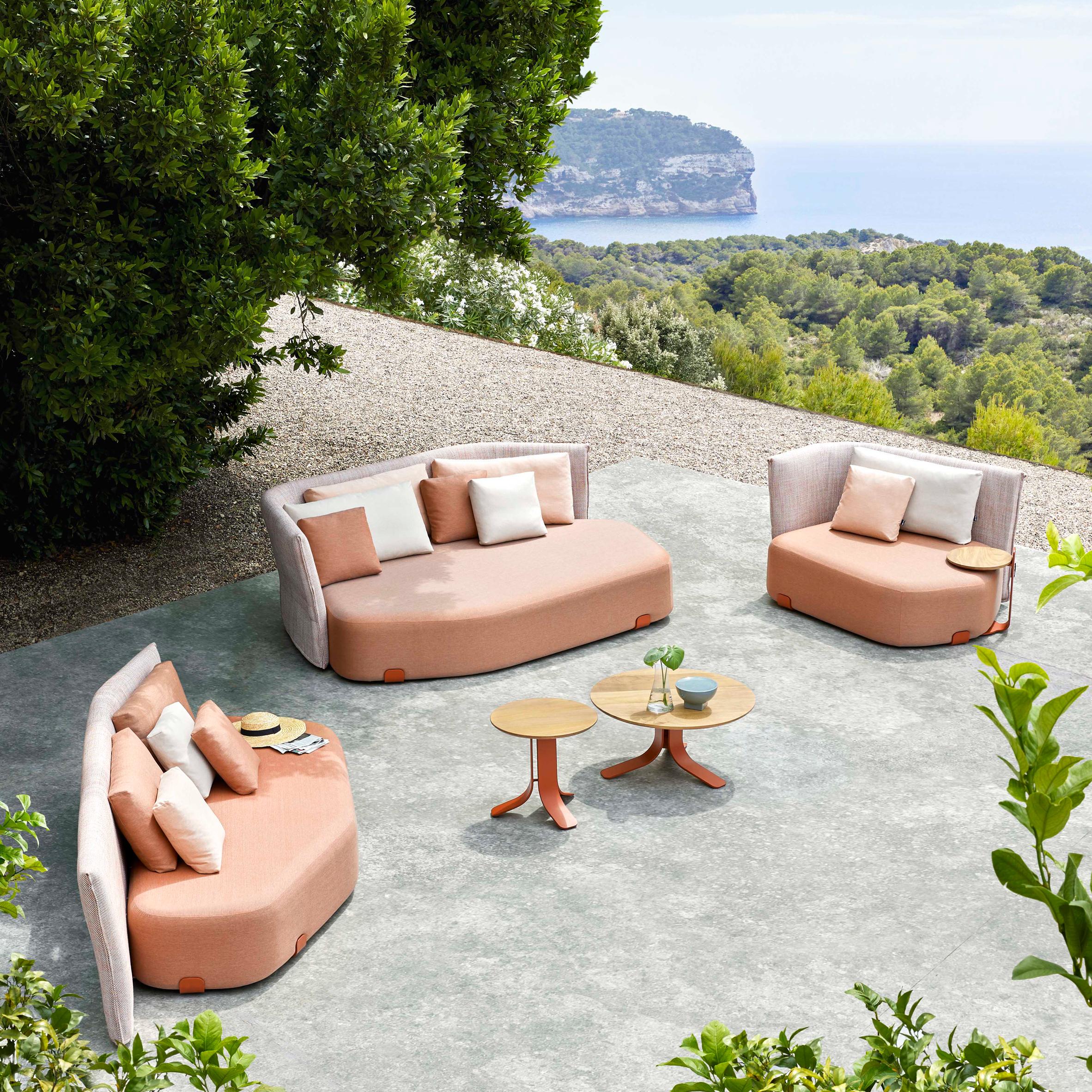 Isla outdoor seating by Sebastian Herkner for Gan