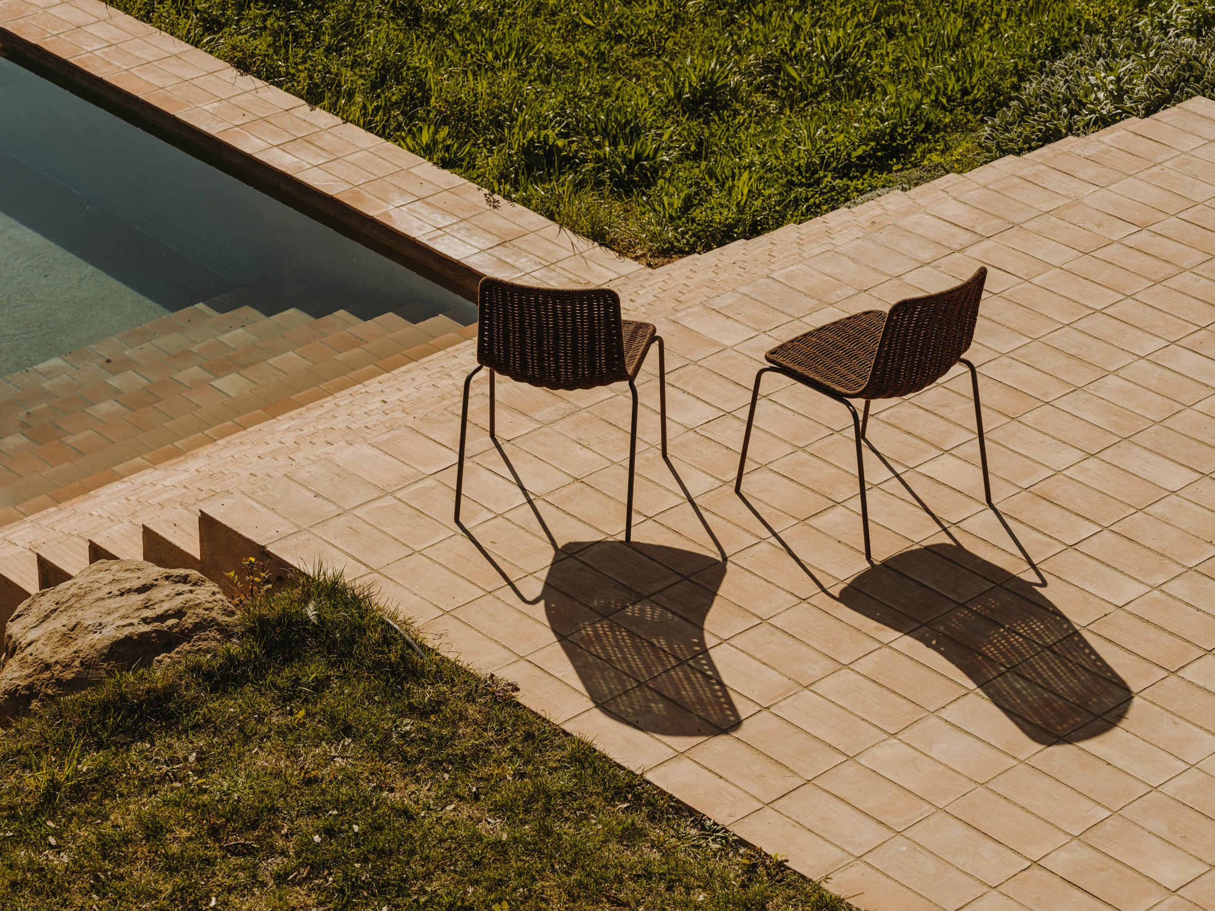 Top image: Expormim presents its catalogue of outdoor furniture for 2021. Above: Lapala has been reimagined for outdoor use