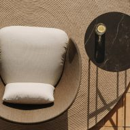 Liz armchair by Ludovica Serafini and Roberto Palomba for Expormim from above