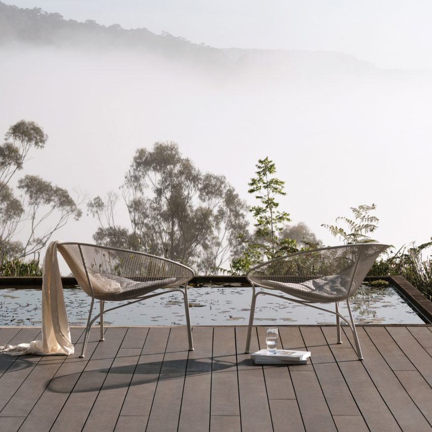 Luna outdoor chair by Charles Wilson for King
