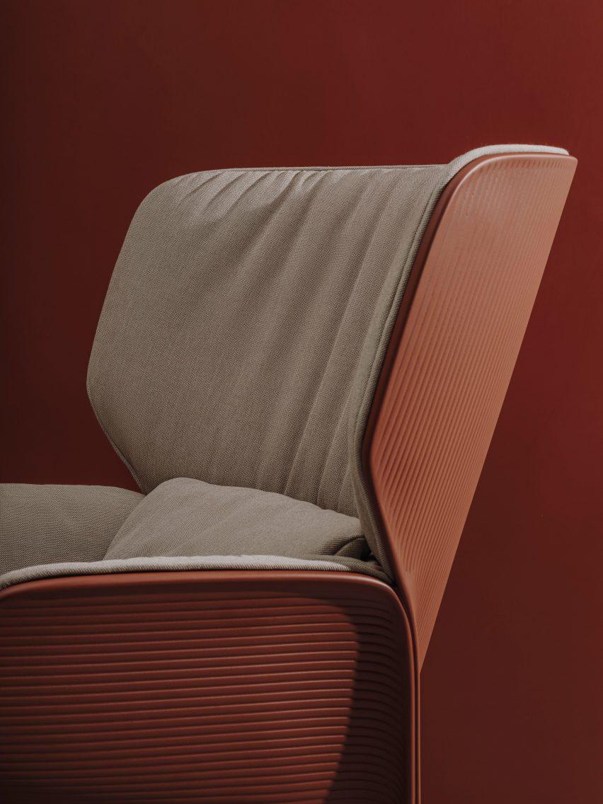 Nuez Lounge BIO by Patricia Urquiola for Andreu World close-up