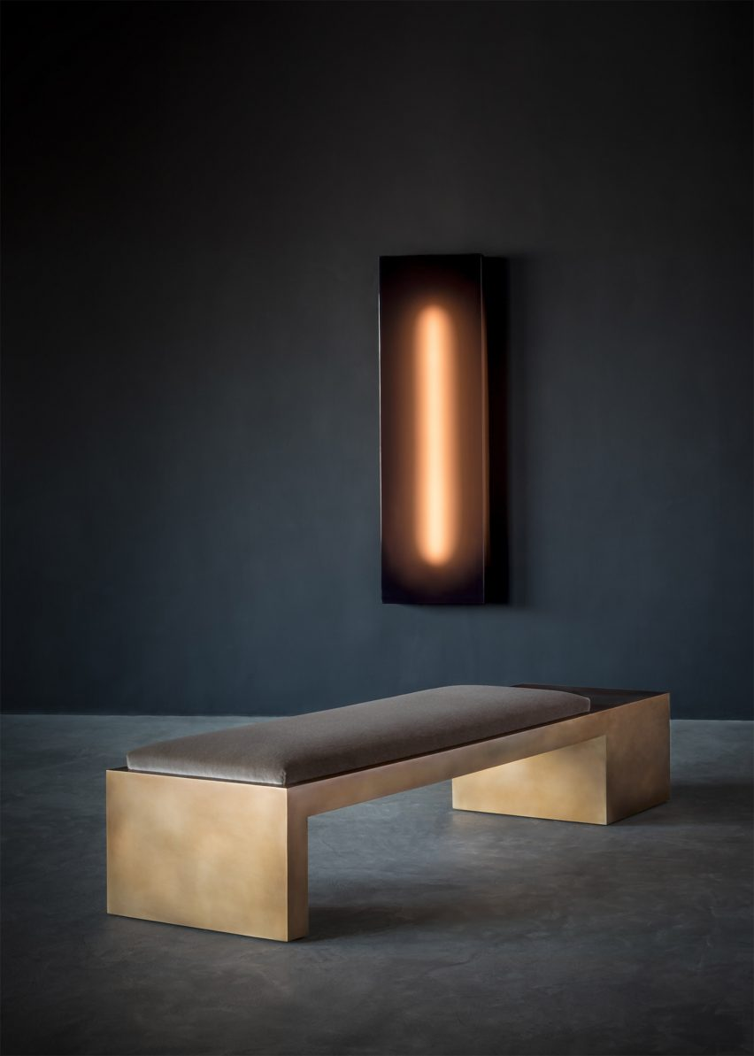 Offset Cube bench by Videre Licet via Twentieth gallery