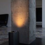 Plint light by Massimo Colagrande for Nemo Lighting illuminating a pillar