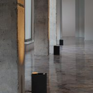 Plint light by Massimo Colagrande for Nemo Lighting illuminating pillars