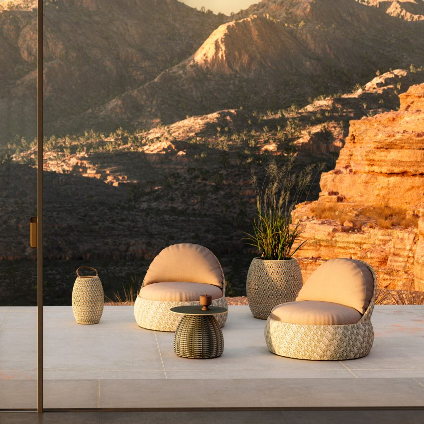 Porcini side tables by Lorenza Bozzoli for Dedon
