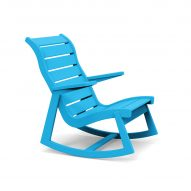 Rapson outdoor rocking chair by Loll Designs in blue