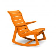 Rapson outdoor rocking chair by Loll Designs in orange