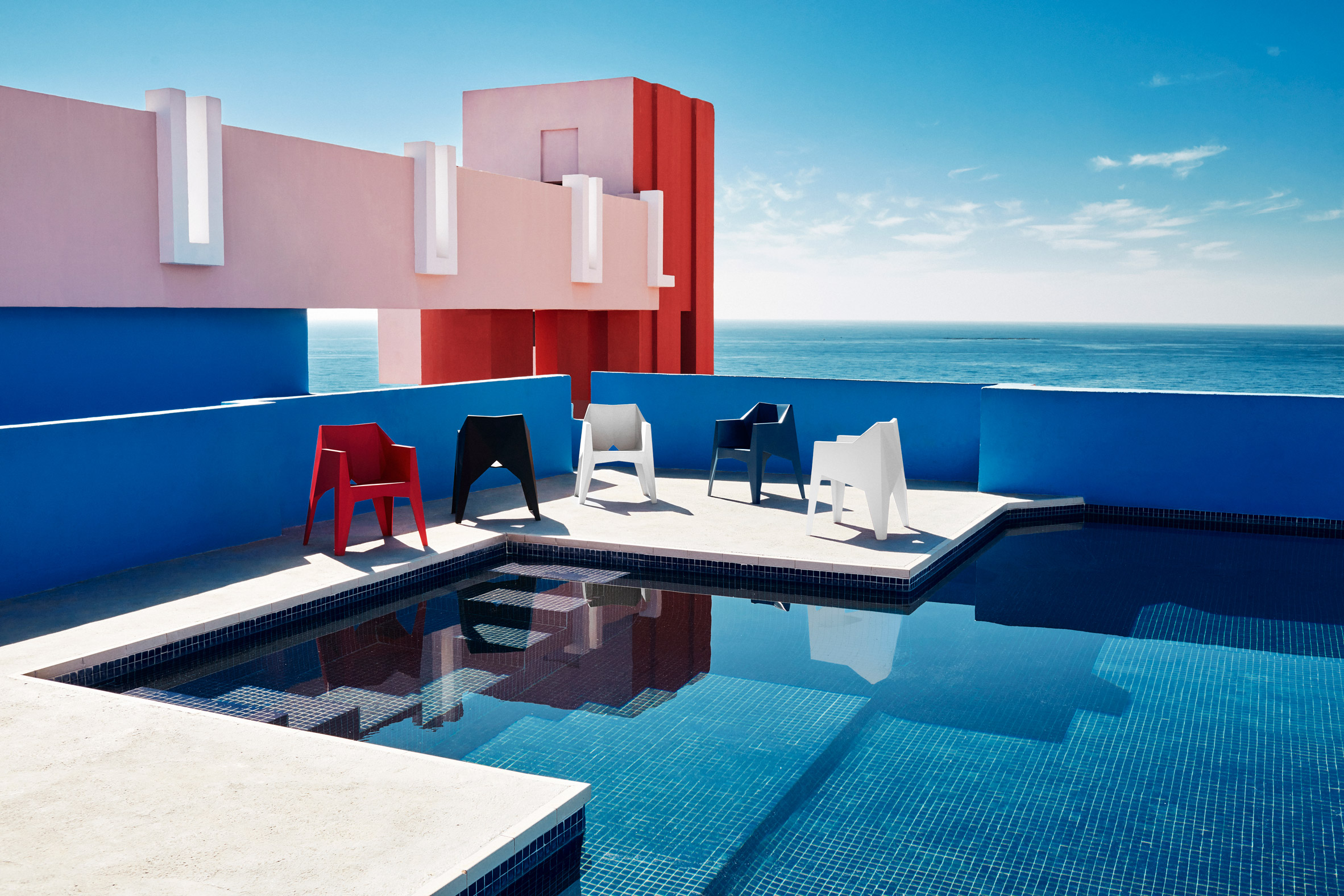 Voxel armchairs by Karim Rashid for Vondom