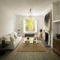 Pared-back living room in London house