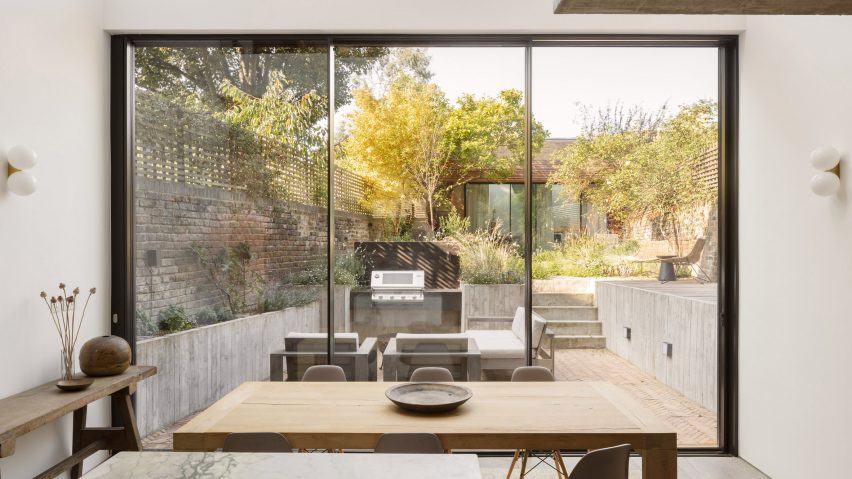The dining room of AC Residence by DeDraft