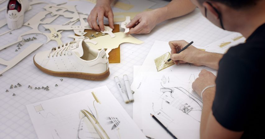 Stan Smith Mylo trainer by Adidas in production
