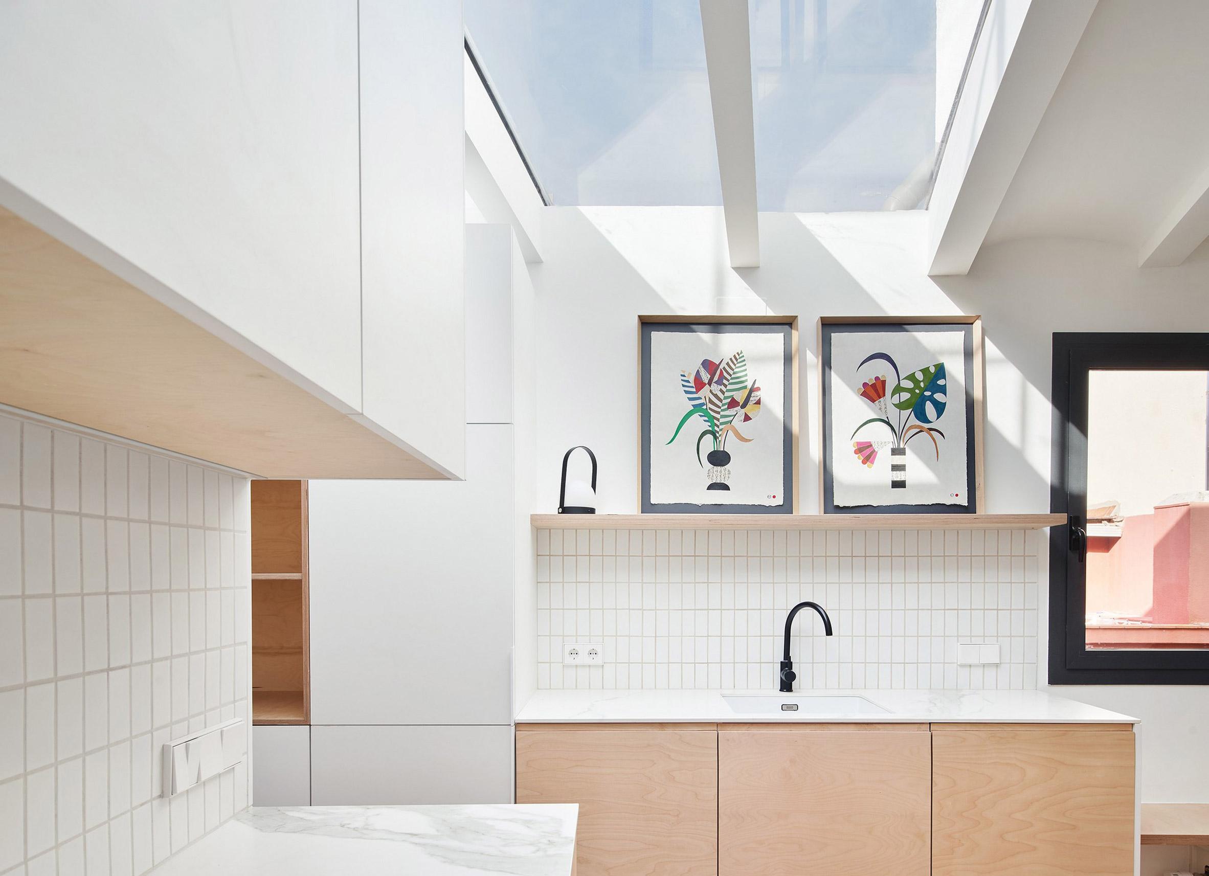 Light-filled kitchen in Akari House