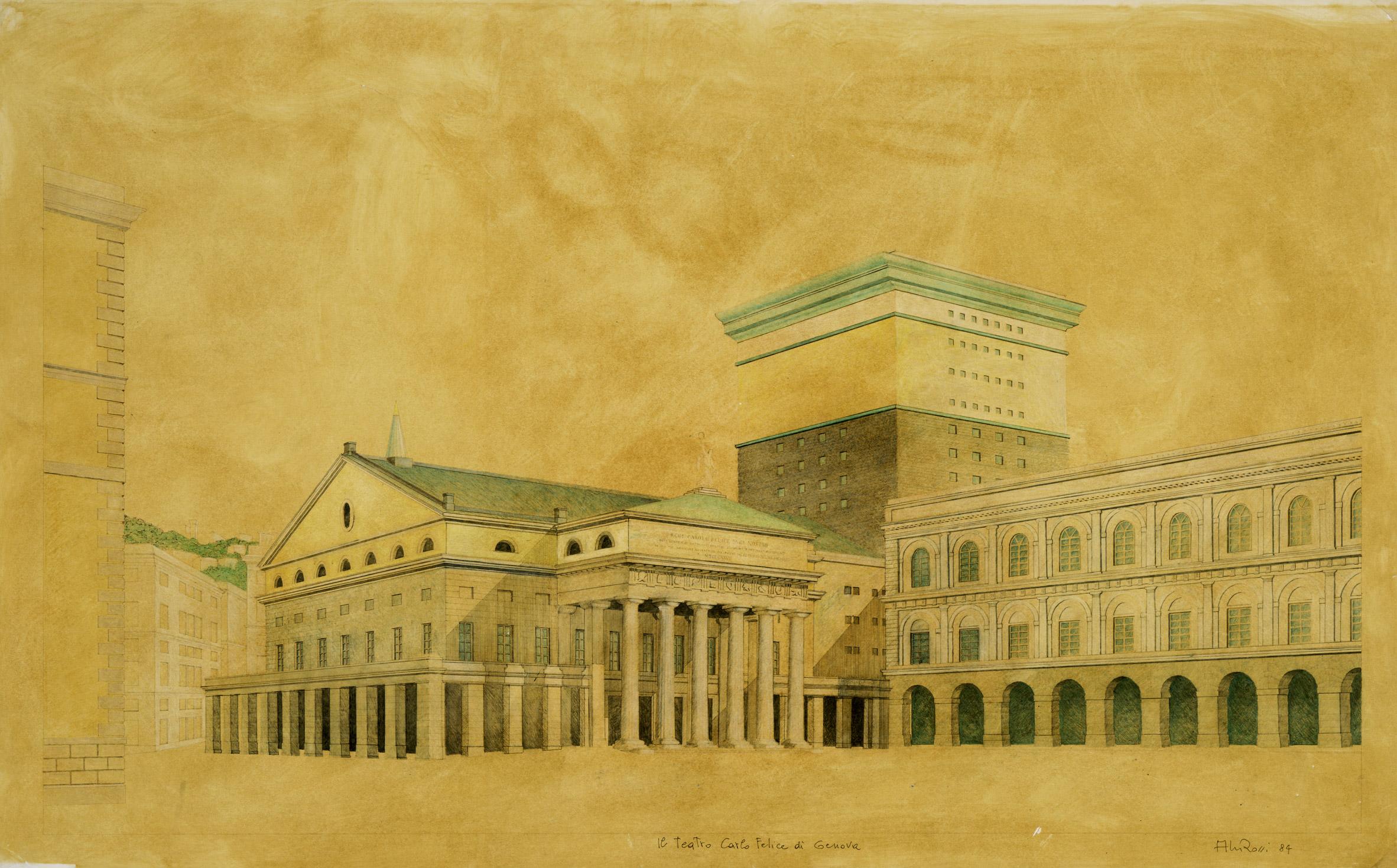 Genoa theatre by Aldo Rossi
