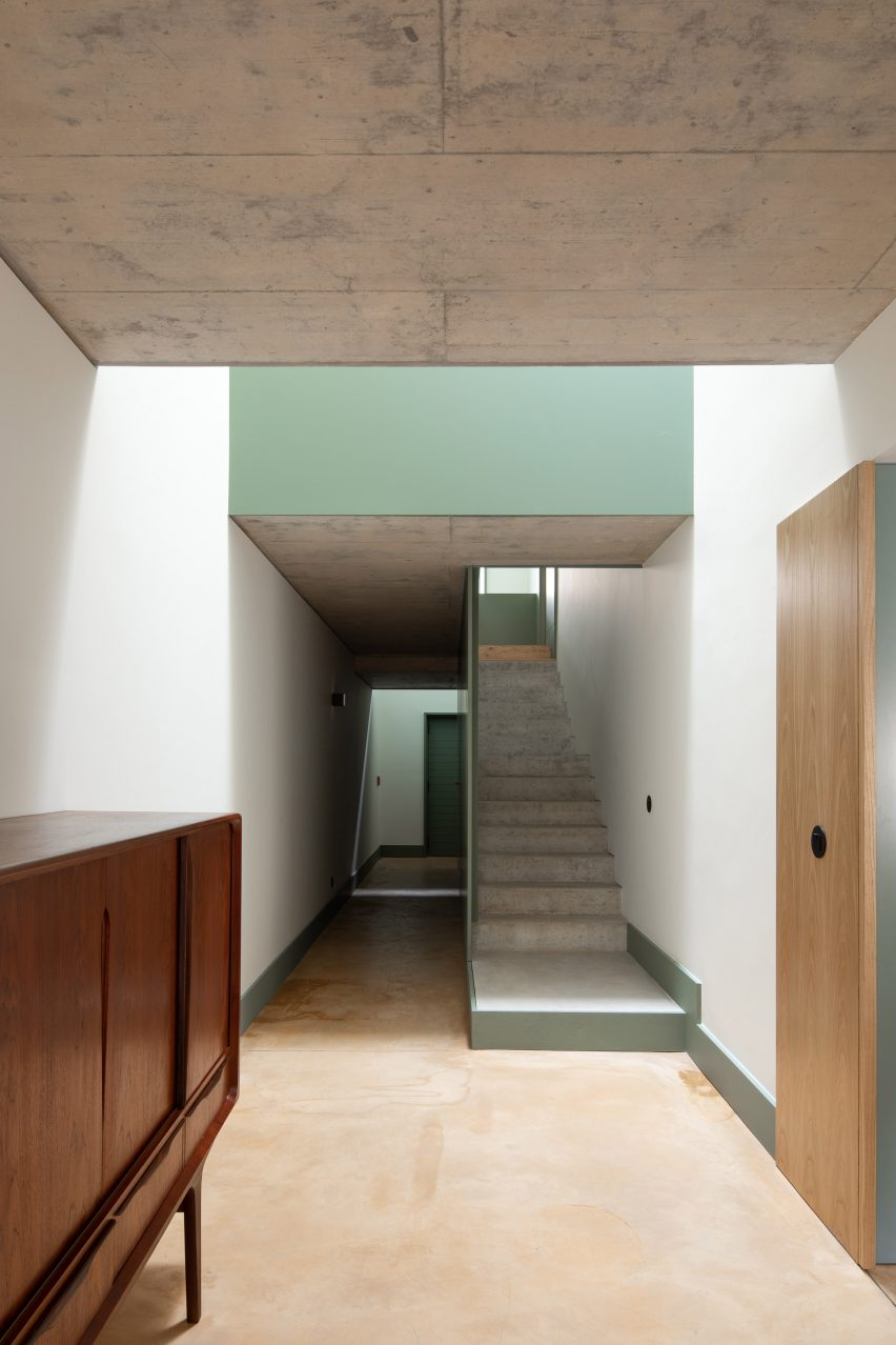 The floors have an ochre hue by depA Architects