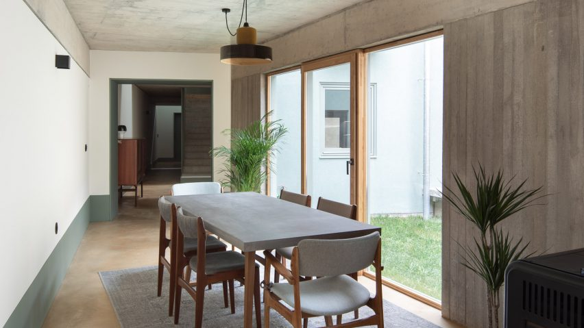 Dining area of the home by DepA Architects