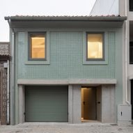 DepA Architects clads traditional Portuguese house in sage-green tiles