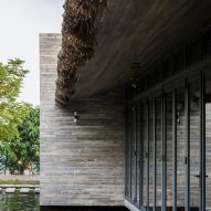 The concrete exterior of AM House