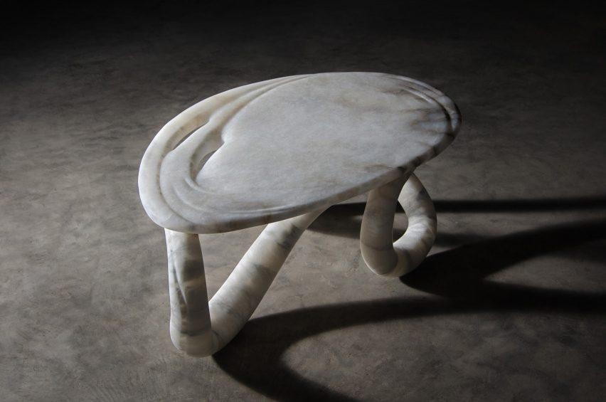 Aqua Fossil coffee table by Amarist Studio