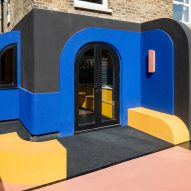 A bright-coloured house renovation in London