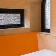 A wooden kitchen