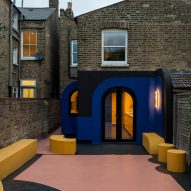 A colourful house renovation and extension