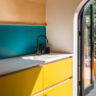 A colourful kitchen