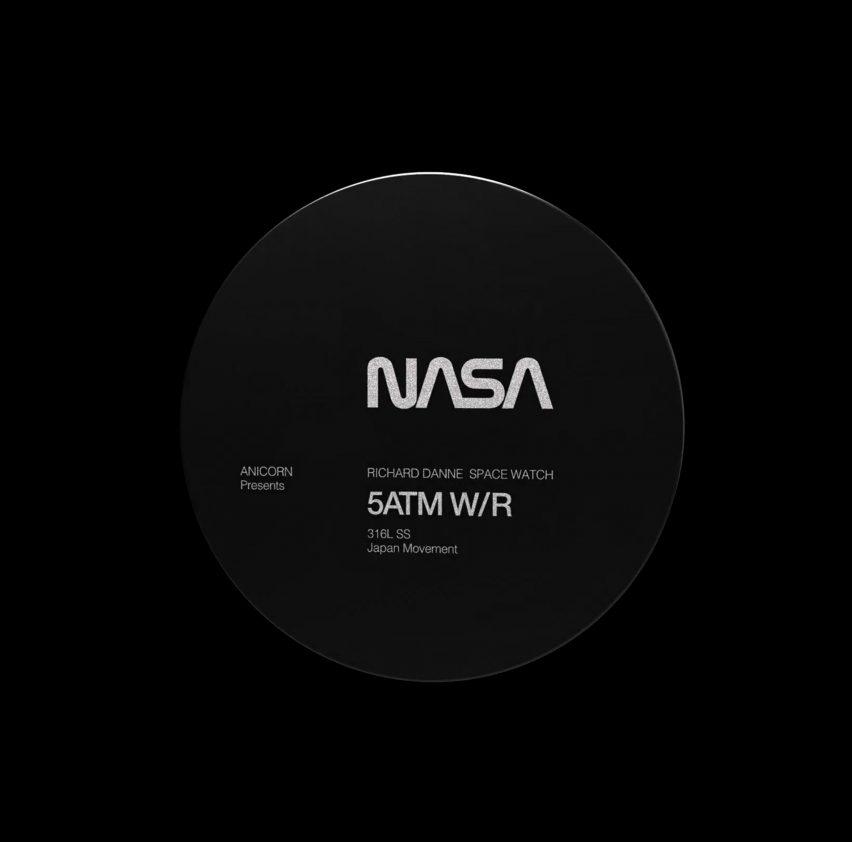 The artwork is features a circular NASA disc