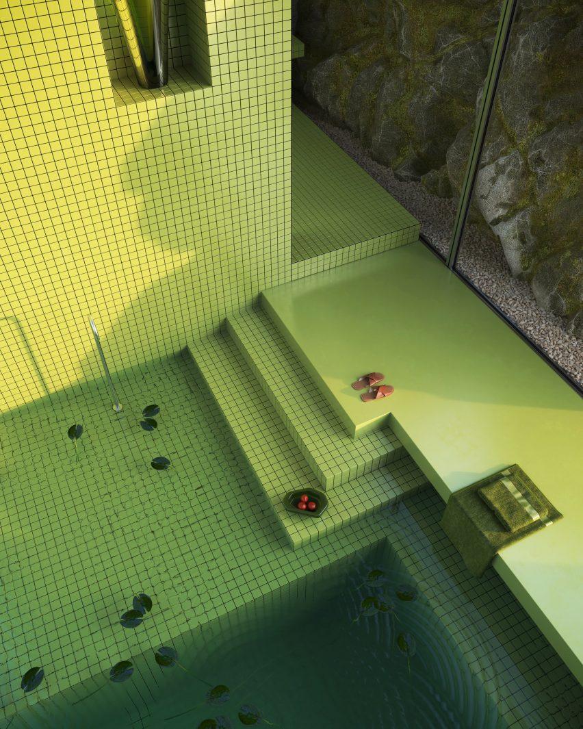 Bathroom in a virtual house