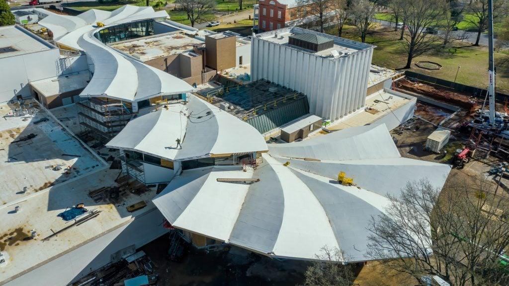 Studio Gang reveals folded concrete roof of Arkansas Museum of Fine Arts