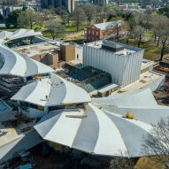 Studio Gang reveals folded concrete roof of Arkansas Museum of Fine Arts