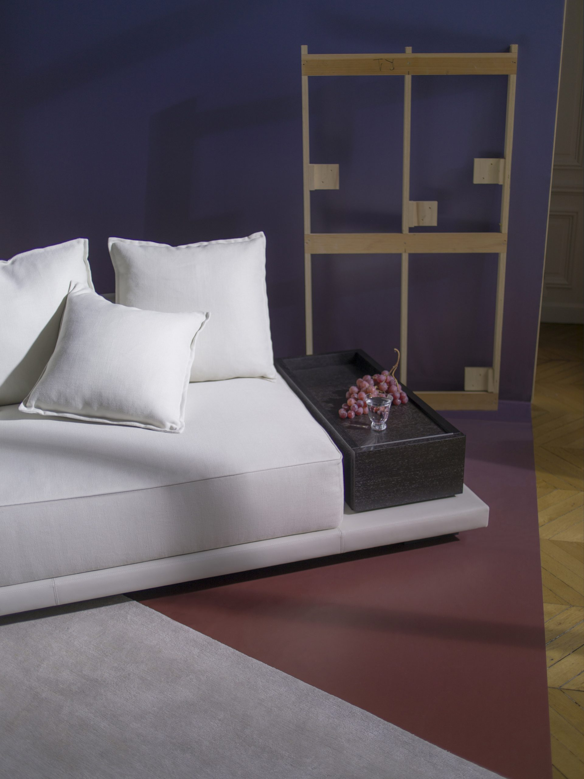 A modular sofa unit with inbuilt storage
