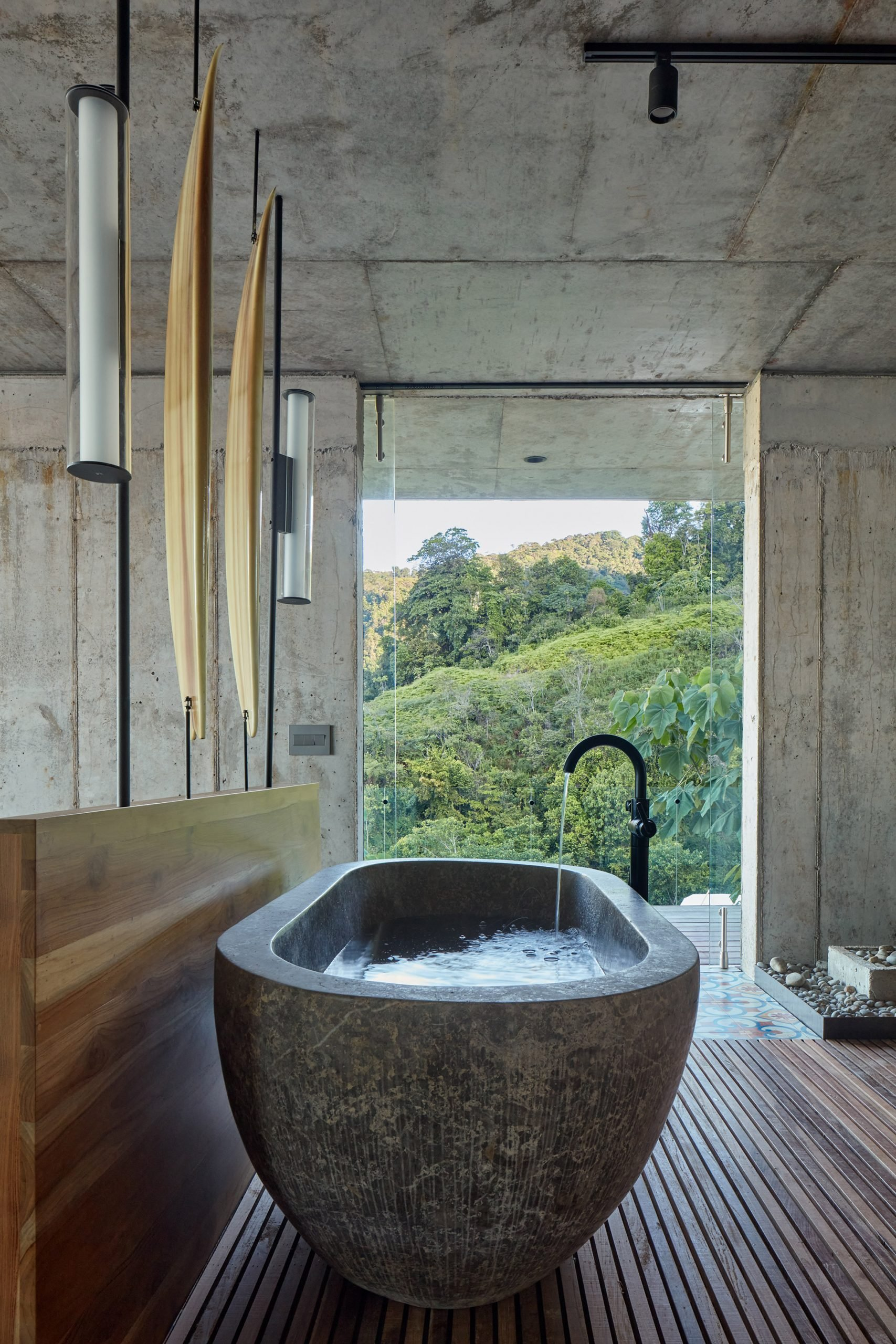 Spa-like bathroom in Art Villa by Formafatal and Refuel Works