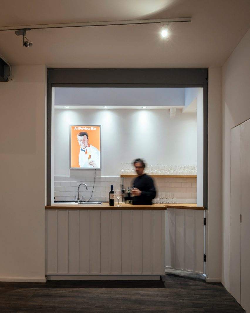 Bar at ArtReview's office